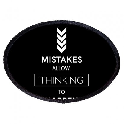 Mistakes Oval Patch Designed By Miss.illustration