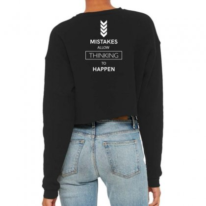 Mistakes Cropped Sweater Designed By Miss.illustration