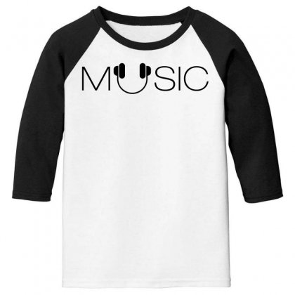 Music Soud Melody Youth 3/4 Sleeve Designed By Designisfun