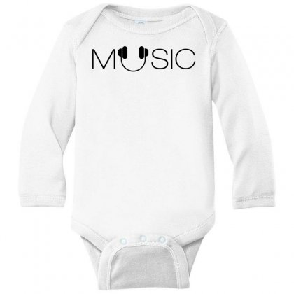Music Soud Melody Long Sleeve Baby Bodysuit Designed By Designisfun