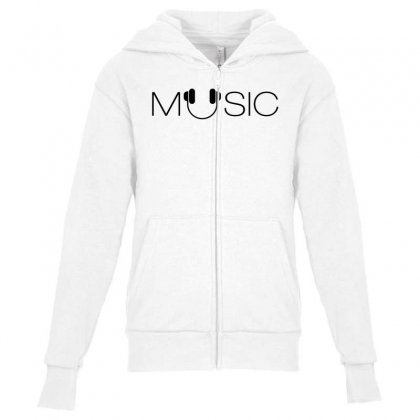 Music Soud Melody Youth Zipper Hoodie Designed By Designisfun