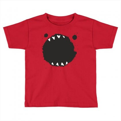 Mouth Monster Horror Toddler T-shirt Designed By Designisfun
