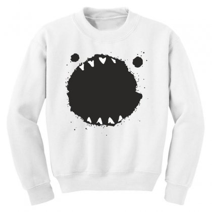 Mouth Monster Horror Youth Sweatshirt Designed By Designisfun