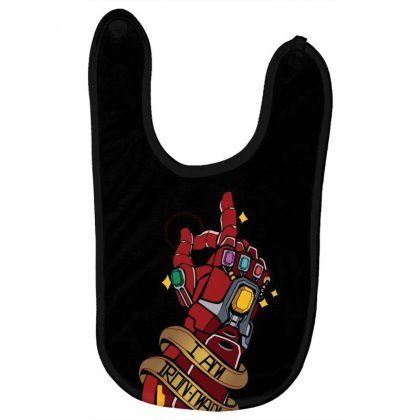 I Am Ironman Baby Bibs Designed By Harshita
