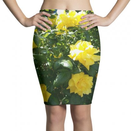 Yellow Roses In A Bush Pencil Skirts Designed By Thoughtcloud