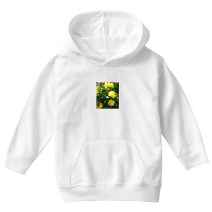 Yellow Roses In A Bush Youth Hoodie Designed By Thoughtcloud