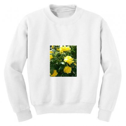 Yellow Roses In A Bush Youth Sweatshirt Designed By Thoughtcloud