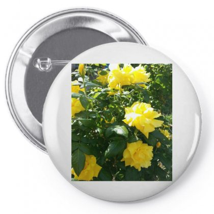 Yellow Roses In A Bush Pin-back Button Designed By Thoughtcloud