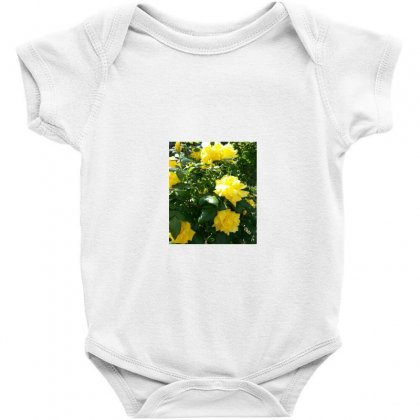 Yellow Roses In A Bush Baby Bodysuit Designed By Thoughtcloud