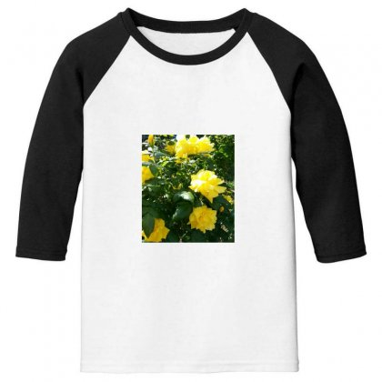 Yellow Roses In A Bush Youth 3/4 Sleeve Designed By Thoughtcloud