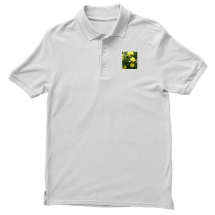Yellow Roses In A Bush Men's Polo Shirt Designed By Thoughtcloud