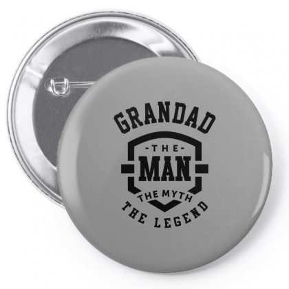 Grandad The Man The Myth The Legend Grandpa Gift Pin-back Button Designed By Cidolopez