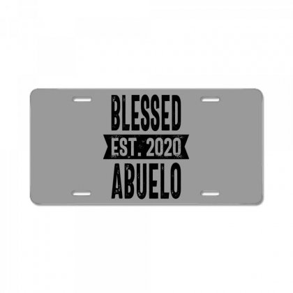Blessed Est. 2020 Abuelo Grandpa Gift License Plate Designed By Cidolopez