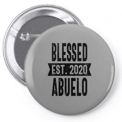 Blessed Est. 2020 Abuelo Grandpa Gift Pin-back Button Designed By Cidolopez