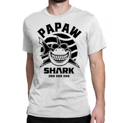 Mens Papaw Shark Father Grandpa Gift Classic T-shirt Designed By Cidolopez