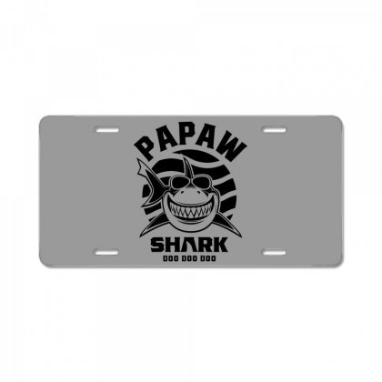 Mens Papaw Shark Father Grandpa Gift License Plate Designed By Cidolopez