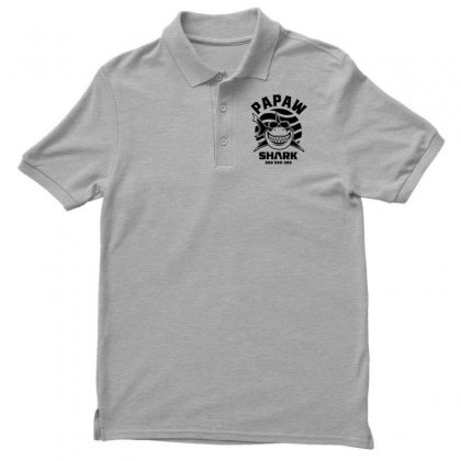 Mens Papaw Shark Father Grandpa Gift Men's Polo Shirt Designed By Cidolopez