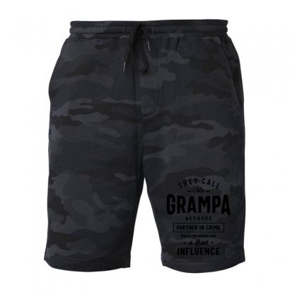They Call Me Grampa Because Partner In Crime Grampa Fleece Short Designed By Cidolopez