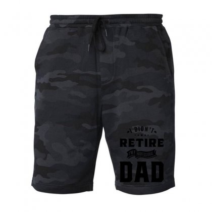 Mens I Didn't Retire I'm A Professional Dad Fathers Day Gift Fleece Short Designed By Cidolopez