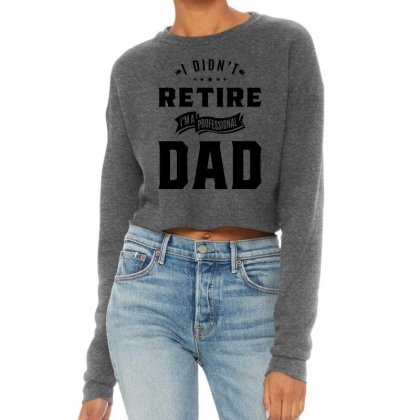 Mens I Didn't Retire I'm A Professional Dad Fathers Day Gift Cropped Sweater Designed By Cidolopez