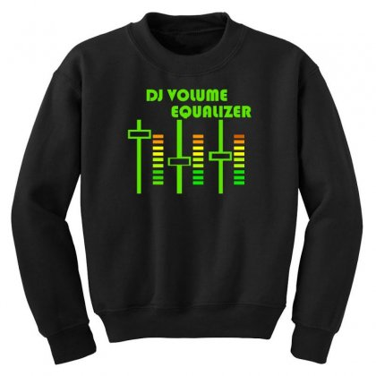 Dj Volume,funny Youth Sweatshirt Designed By Nugraha