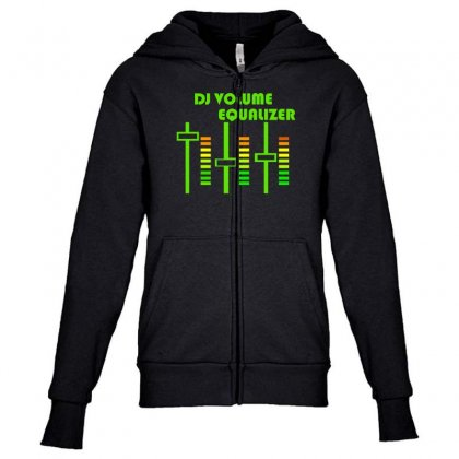 Dj Volume,funny Youth Zipper Hoodie Designed By Nugraha