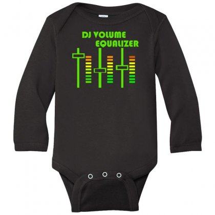 Dj Volume,funny Long Sleeve Baby Bodysuit Designed By Nugraha