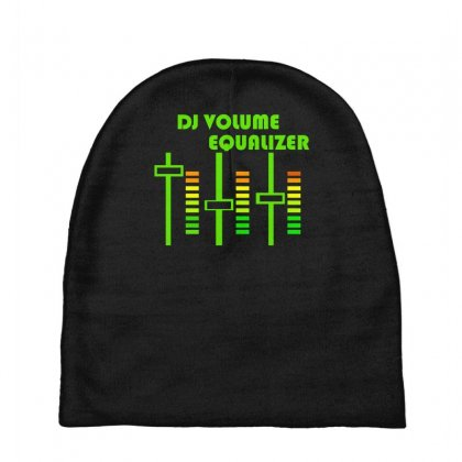 Dj Volume,funny Baby Beanies Designed By Nugraha