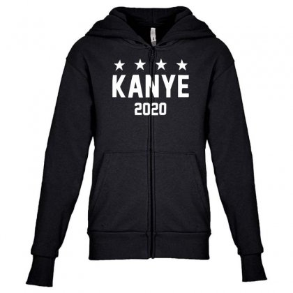 Kanye 2020 Youth Zipper Hoodie Designed By Nugraha