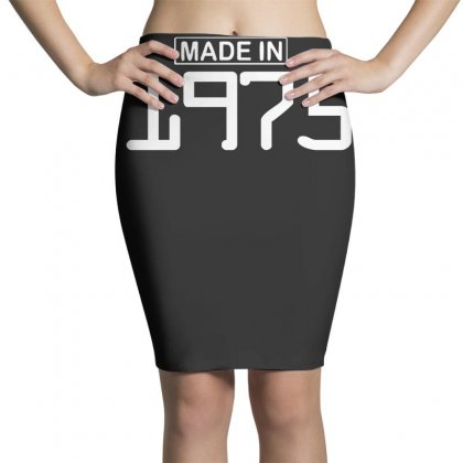 Made In 1975 Birthday Celebration Funny Party Pencil Skirts Designed By Nugraha