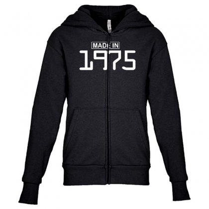 Made In 1975 Birthday Celebration Funny Party Youth Zipper Hoodie Designed By Nugraha