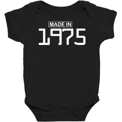 Made In 1975 Birthday Celebration Funny Party Baby Bodysuit Designed By Nugraha