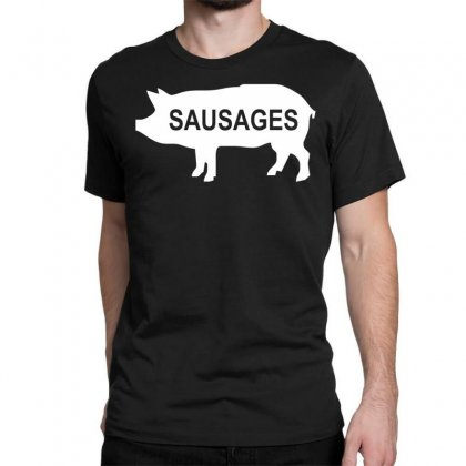 Pig Sausages Funny Classic T-shirt Designed By Nugraha