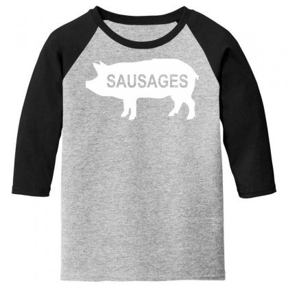 Pig Sausages Funny Youth 3/4 Sleeve Designed By Nugraha