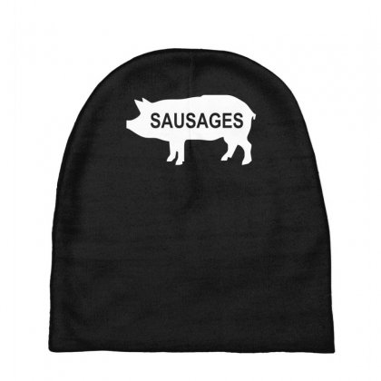 Pig Sausages Funny Baby Beanies Designed By Nugraha