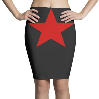 Red Star Army Pencil Skirts Designed By Nugraha