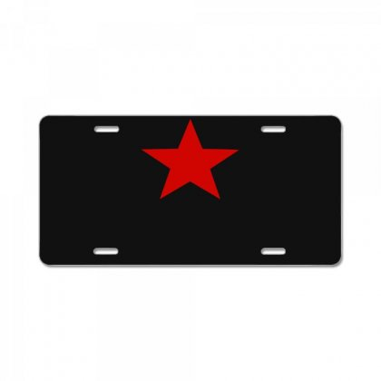 Red Star Army License Plate Designed By Nugraha
