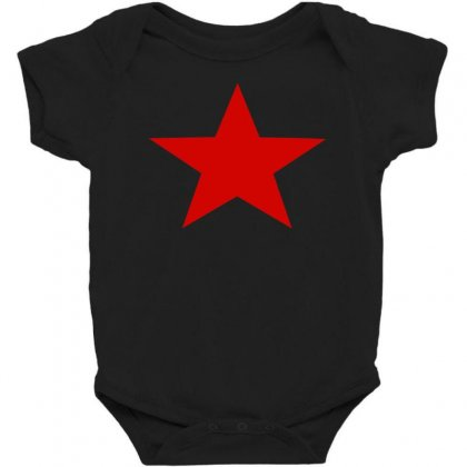 Red Star Army Baby Bodysuit Designed By Nugraha