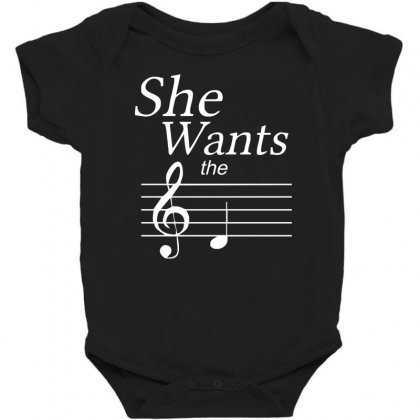 She Wants The D Black Baby Bodysuit Designed By Nugraha