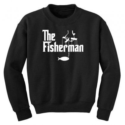 The Fisherman Youth Sweatshirt Designed By Nugraha