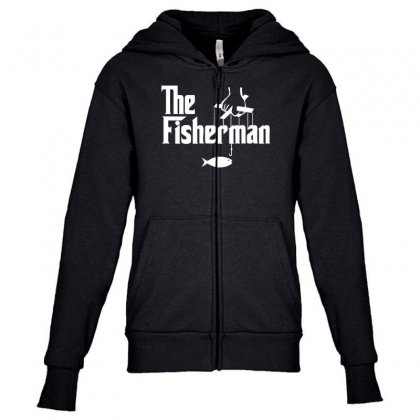The Fisherman Youth Zipper Hoodie Designed By Nugraha