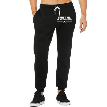 Trust Me, I'm With The Band   Musician Rockband Guitar Bass Jam Tee Unisex Jogger Designed By Nugraha