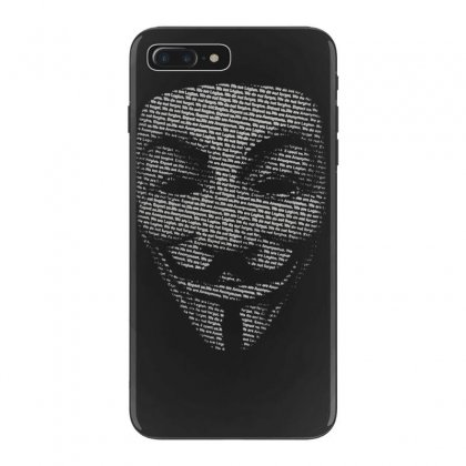 V For Vendetta Mask Guy Fawkes Cool Girls Womens Cotton T Shirt Dw01 Iphone 7 Plus Case Designed By Nugraha