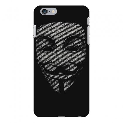 V For Vendetta Mask Guy Fawkes Cool Girls Womens Cotton T Shirt Dw01 Iphone 6 Plus/6s Plus Case Designed By Nugraha