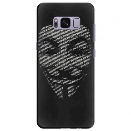 V For Vendetta Mask Guy Fawkes Cool Girls Womens Cotton T Shirt Dw01 Samsung Galaxy S8 Plus Case Designed By Nugraha