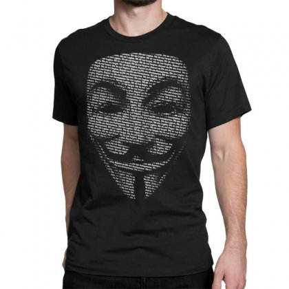 V For Vendetta Mask Guy Fawkes Cool Girls Womens Cotton T Shirt Dw01 Classic T-shirt Designed By Nugraha