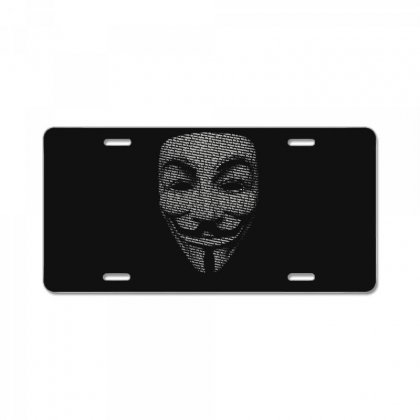 V For Vendetta Mask Guy Fawkes Cool Girls Womens Cotton T Shirt Dw01 License Plate Designed By Nugraha