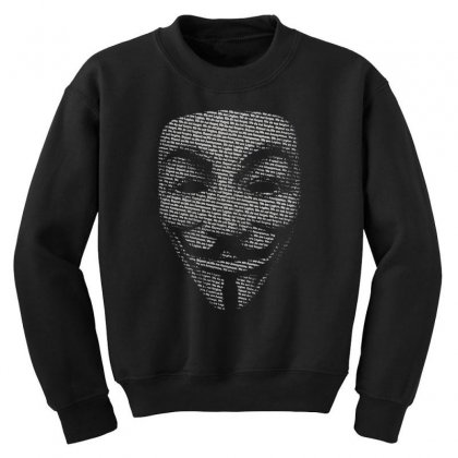 V For Vendetta Mask Guy Fawkes Cool Girls Womens Cotton T Shirt Dw01 Youth Sweatshirt Designed By Nugraha