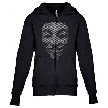 V For Vendetta Mask Guy Fawkes Cool Girls Womens Cotton T Shirt Dw01 Youth Zipper Hoodie Designed By Nugraha