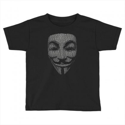 V For Vendetta Mask Guy Fawkes Cool Girls Womens Cotton T Shirt Dw01 Toddler T-shirt Designed By Nugraha